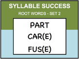SYLLABLE SUCCESS 2 - PREFIXES, SUFFIXES, ROOT WORDS