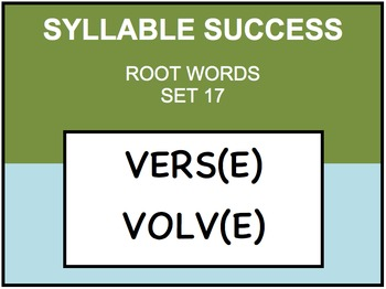 SYLLABLE SUCCESS 17 - PREFIXES, SUFFIXES, ROOT WORDS