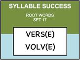 SYLLABLE SUCCESS 17 - PREFIXES, SUFFIXES, ROOT WORDS