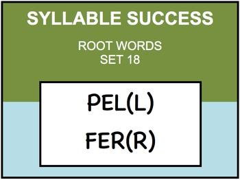 SYLLABLE SUCCESS 18 - PREFIXES, SUFFIXES, ROOT WORDS