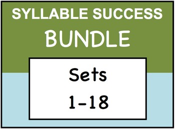SYLLABLE SUCCESS - PREFIXES, SUFFIXES, ROOT WORDS - BUNDLE