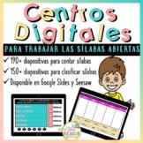 SYLLABLE WORD WORK IN SPANISH - TRABAJO DE PALABRAS LAS SI