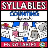 SYLLABLES FOR KINDERGARTEN (CLIP CARDS) PHONOLOGICAL AWARE