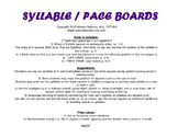 SYLLABLES/ Pacing Board