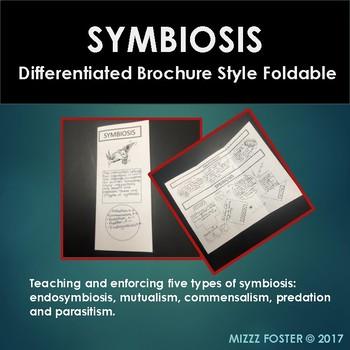 SYMBIOSIS Brochure Foldable, Graphic Organizer, Interactiv