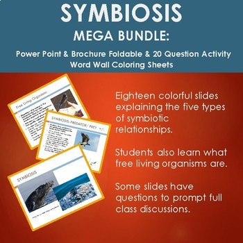 SYMBIOSIS Bundle: Power Point, Symbiosis Quest Power Point, Symbiosis foldable