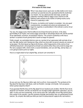 SYMBOLS/SYMBOLISM: Mini-lesson, cheat sheet, worksheet + ANSWERS! (RL. 9-10.2)