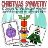 {SYMMETRY worksheets} {Christmas colouring} {Christmas drawing}}