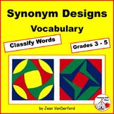 VOCABULARY WORKSHEETS | Synonym PRACTICE | Color by Words