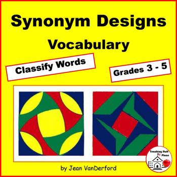 VOCABULARY | GEOMETRIC DESIGNS | Synonym Activity PRACTICE