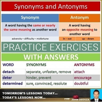 Synonyms And Antonyms Poem Teaching Resources Teachers Pay Teachers