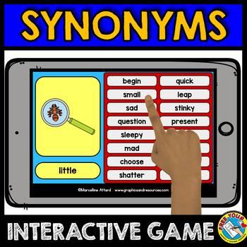 BOOM CARDS ELA SYNONYMS GAME (GRAMMAR PRACTICE 2ND GRADE)