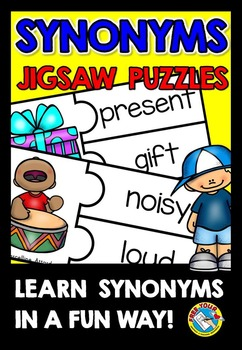 SYNONYMS ACTIVITIES: SYNONYMS PUZZLES: MATCHING LITERACY GAMES: SYNONYMS CENTER
