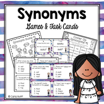 SYNONYMS - Task Cards & Games