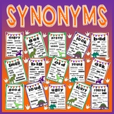 SYNONYMS VOCABULARY POSTERS -DISPLAY EYFS KS1-2 ENGLISH (DINOSAUR THEME)