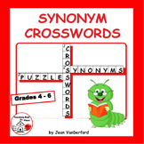 SYNONYMS | Early Finishers |Crossword Puzzles| 325 Vocabulary LIST | Gr 4-6 CORE