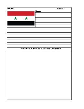 SYRIA Summary Writing and Mural Assignment