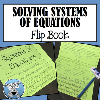 SYSTEMS OF EQUATIONS FLIP BOOK!