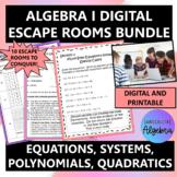 Algebra 1 Digital Escape Room Bundle Distance Learning