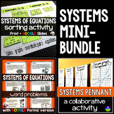 Systems of Equations mini-bundle