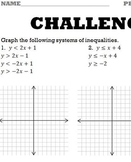 SYSTEMS OF INEQUALITIES GRAPHING WORKSHEET