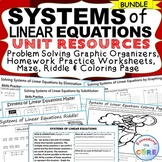 SYSTEMS OF LINEAR EQUATIONS - Homework, Graphic Organizers