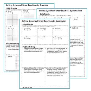 OF LINEAR EQUATIONS Homework Worksheets: Skills Practice & Word ...