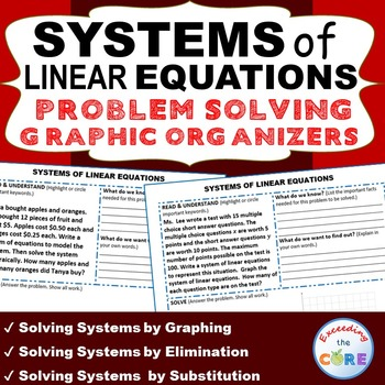 Systems of linear equations word problems with graphic organizer ibookread Download