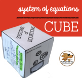SYSTEMS of EQUATIONS - CUBE activity