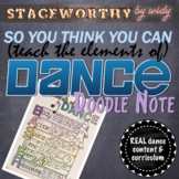 SYTYCD - Elements of Dance Doodle Note