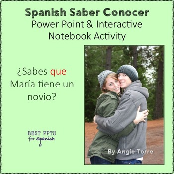 Spanish Saber Conocer PowerPoint & Interactive Notebook Activity
