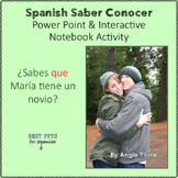 Spanish Saber vs Conocer PowerPoint & Interactive Notebook Activities