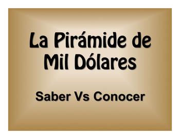 Saber Vs Conocer $1000 Pyramid Game