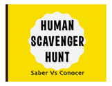 Saber Vs Conocer Human Scavenger Hunt