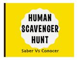 Saber Vs Conocer Human Scavenger Hunt