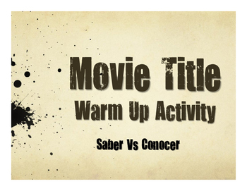 Saber Vs Conocer Movie Titles
