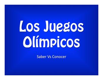 Saber Vs Conocer Olympics