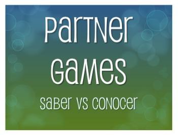 Saber Vs Conocer Partner Games