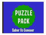Saber Vs Conocer Puzzle Pack