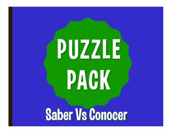 Saber Vs Conocer Puzzle Pack