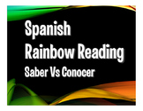 Saber Vs Conocer Rainbow Reading