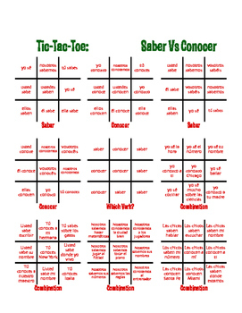 Saber Vs Conocer Tic Tac Toe Partner Game