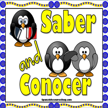 Saber and Conocer Notes and Practice Powerpoint BUNDLE