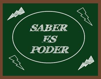 """""""Saber es Poder"""" poster"""
