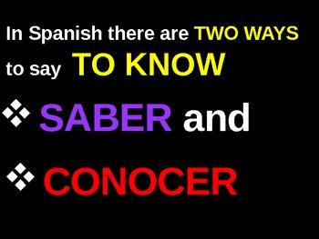 Saber or Conocer