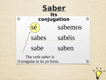 Saber vs. Conocer