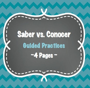 Saber vs Conocer - 4 Pages