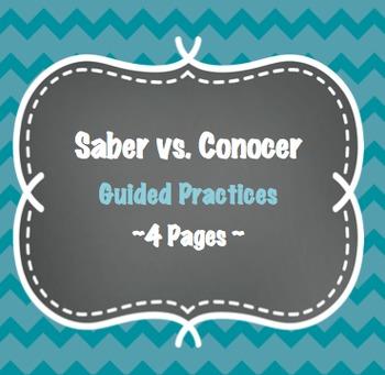 Saber vs Conocer - 4 Pages