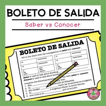 Saber vs Conocer Exit Slip