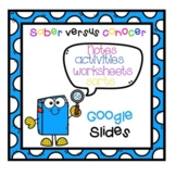 Saber vs Conocer Google Slides Notes and Workeets